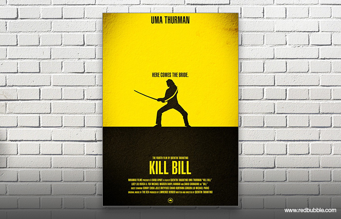 Plakat fra filmen Kill Bill med Uma Thurman
